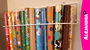 storing wrapping paper how to organize wrapping paper