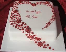 ruby wedding cakes 5cd10ba0e1dc60df371f5df2a42f4759 wedding anniversary cakes