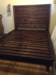 Plans For Wood Platform Bed by Ana White Hailey Planked Headboard And Platform Bed Diy Projects
