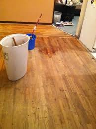 Refinished Hardwood Floors Before And After How To Stain A Hardwood Floor In 5 Steps Dengarden
