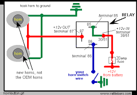 wiring diagram car horn relay wiring diagram and schematic design