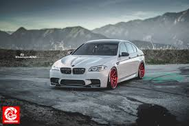 M5 2015 Bmw F10 M5 Gloss Red Adv10 Track Spec Sl Wheels Adv 1 Wheels