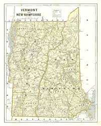 Vermont County Map Vermont And New Hampshire Morse U0026 Breese 1842 Map Showing