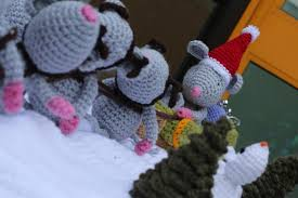 knitted nativity scene on post box brings christmas cheer to south