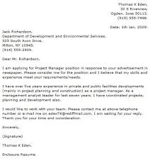project management cover letter project manager cover letter