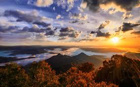 wallpaper sunrise morning gold coast australia 4k nature 4076