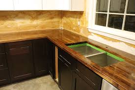 Countertop Kitchen Sink How To Cut Seal Install Butcherblock Countertops With An