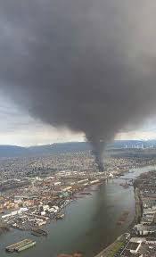 crews battle fire at mitchell island scrap yard vancouver sun