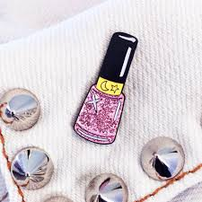 pink moon sparkle nail polish pin laser kitten