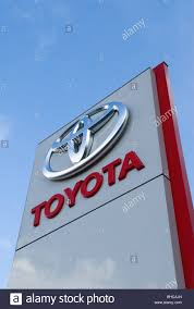 toyota car company toyota car sales showroom signage london uk homer sykes stock