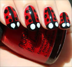 nail art tutorial ladybug nails swatch and learn