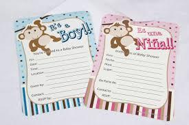 boy baby shower invitation monkey spanish 12 pieces