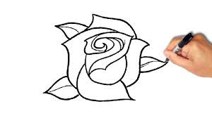 drawing a simple rose tags rose simple drawing how to draw a