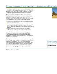 is succession planning success management