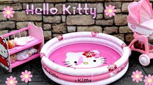 kitty dolls stroller pram bunkbed u0026 swimming pool nursery