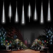 outdoor string lights rain meteor shower rain lights komake led icicle falling rain cascading