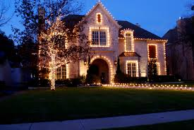 christmas house decorations snow