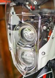 long range optimus led auxiliary light round luggage racks pannier racks husqvarna 701 ktm 690 701e enduro rok