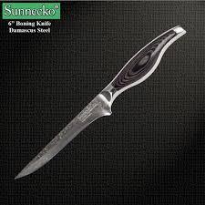 vg10 kitchen knives 2017 sunnecko 6 damascus boning knife japanese vg10 kitchen knives