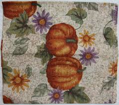 tomcarry printed pumpkins pattern table napkins six pieces sets