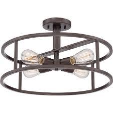 industrial semi flush mount lighting semi flush ceiling lighting allquoizellighting