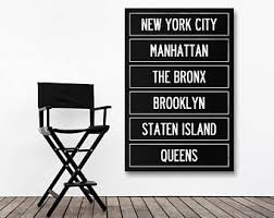 New York City Home Decor Oversized Nyc Art Etsy
