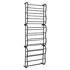 black 36 pair door hanging shelf shoe rack storage organiser
