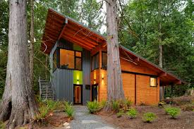 shed roof house house in the woods contemporary exterior seattle by