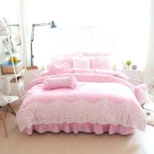 bedding decorating pink and purple baby sets princess style flannel fabrics lace solid color duvet covers