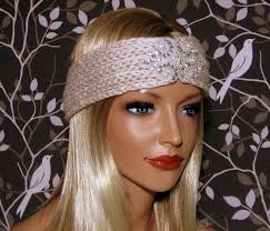 winter headbands knit headband womens beaded embellished winter headbands