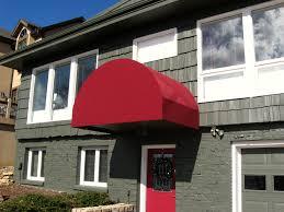 Fabric Window Awnings Residential Awnings Kansas City Tent U0026 Awning Custom Door