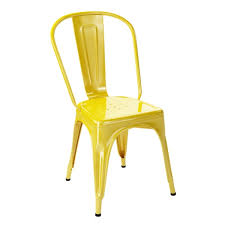 chaise a chaise a tolix jaune chaise design tolix