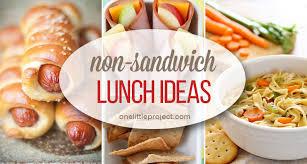 35 non sandwich lunch ideas