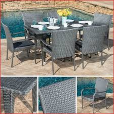 Patio Furniture Table Graypatiofurnituresets Luxury Outdoor Dining Set Gray 7pc Wicker