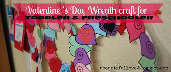 a bountiful love valentine u0027s day wreath craft for toddlers