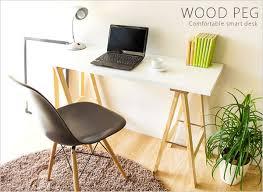 Natural Wood Computer Desk Potarico Rakuten Global Market Depth 40 Cm Simple Slim Pc