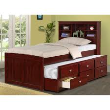 Twin Bedroom Set With Storage Bedroom Twin Captain Bed With Trundle Trundle Bed Sets