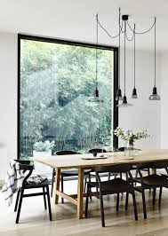 kitchen style scandinavian dining room with roof windows and