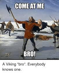 Viking Meme - come at me bro make a meme a viking bro everybody knows one