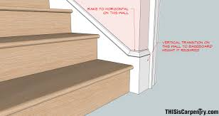 Modern Baseboard Styles by Raked Baseboard Returns Thisiscarpentry