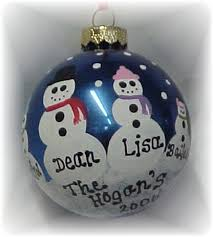 personalized handpainted snowman tree ornament
