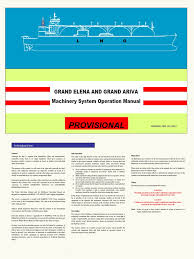 lngc machinery system operation manual boiler steam