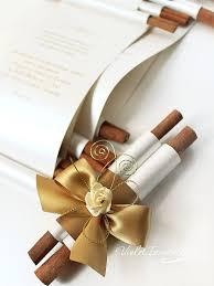 Scroll Invitations Diy 10 Handmade Gold Ivory Rose Scroll Wedding Invitations