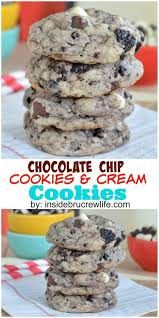 chocolate chip cookies and cream cookies recipe cream cookies