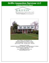 house inspection report sample reporting griffin inspection services click on the images below to see individual page examples and a full report is available for download