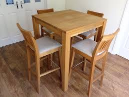 Oak Bar Table Tall Oak Breakfast Bar Table And Four Java Solid Oak Bar Stool In