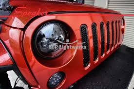 stock jeep headlights jw speaker 8700 evolution j jeep cbp lightwerks llc