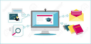 design online education online education icon flat design style university web school