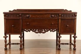 sold english tudor style 1925 antique sideboard or buffet