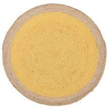 Modern Yellow Rug by Round Jute Natural Rug Yellow Rug Addiction